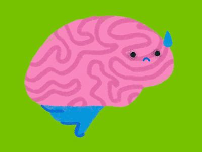 brain strain green care health wellness tired sadness sad burnout stress mental mental health brain
