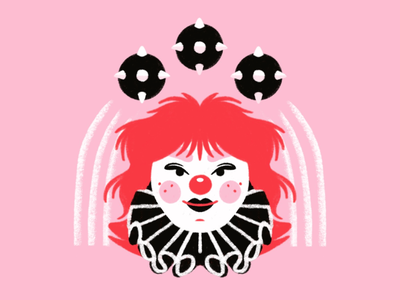 the juggler portrait spooky evil killer creepy halloween circus juggling juggler clown