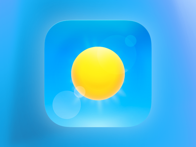 Weather App Icon rays grid lens flare ios icon sun weather