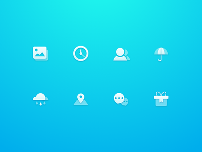 ICONs with transparency and shadow icon