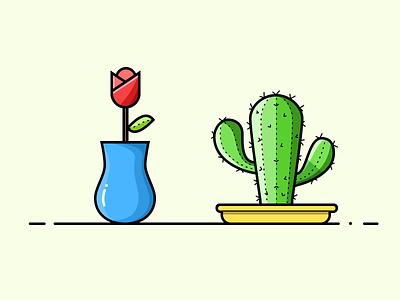 Pot Plants 03 illustration