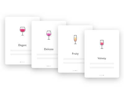 Wine app's guide Page page guide