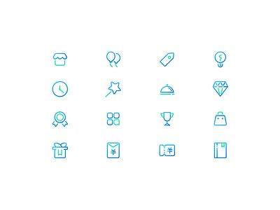 Gradient outline icons gradient icon