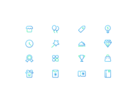 Gradient outline icons
