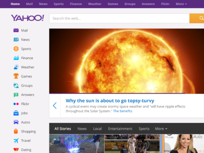 Yahoo Homepage Polish