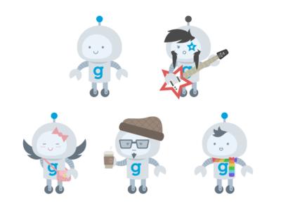 Guidebook Mascot Variations