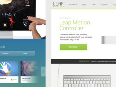 Leap Motion Site Redesign