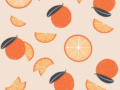 Vintage Orange Pattern textile pattern textile design surface pattern surface design illustrator illustration patterns citrus fruit tan textile pattern oranges orange