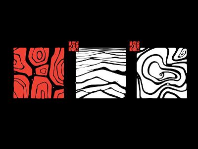 Huinali Records record label branding logo techno photoshop illustration design 2d