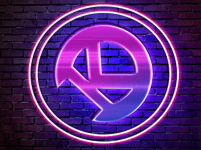 KOTEK Emblem neon electronic music edm kotek logo dj