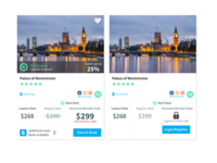 Hotel Booking Cards