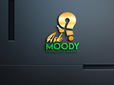 A CONSULTING AGENCY LOGO agency consulting vector design human question ask branding logo graphic design