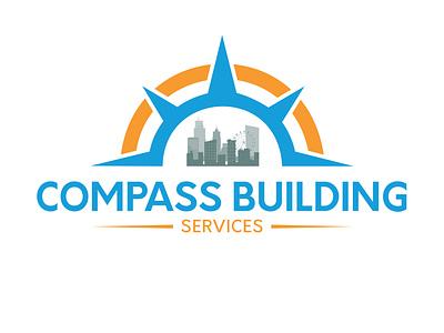 Compass building logo vector logo branding graphic design design unique logo creative logo service logo building logo building compass logo compass