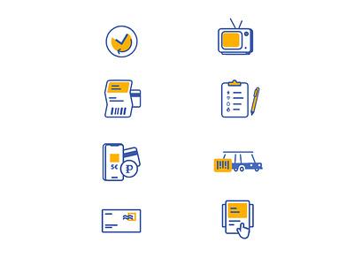 Pago Icons app web illustration icon