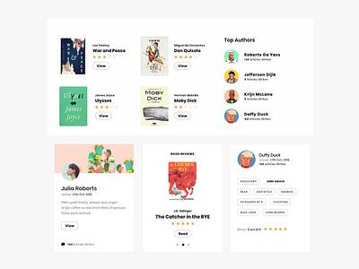 Books UI Elements ui  ux web design books website ui elements