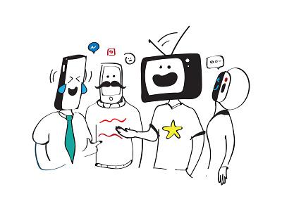 Social Gadgets vector illustration