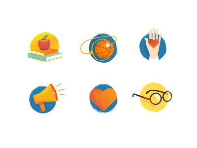 Donation Platform Categories illustrations icons