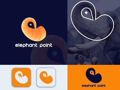 Elephant Point Logo Design modern minimal logotype logo designer vector elegant creative colorful branding design brand identity brand design abstract minimalist logo modern logo graphic design logodesign icon branding logo design