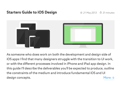 Starters Guide to iOS Design