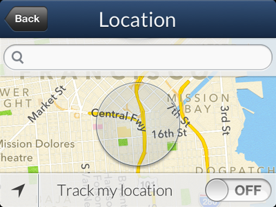 Whether Location Screen
