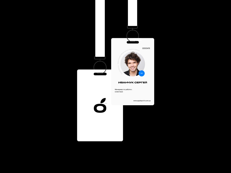 Apple Point® trand free apple logotype business company branding identity brand clean typography service repair fix 2020 promo design card staff