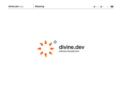 divine.dev develop application website 2020 brand design identity typography brandidentity logo branding coder php javascript programing code developer software