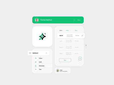 Arbostar® typography minimal daily clean new screen menu header design ux website messages tabs arborist tile profile elements uiux ui