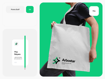 Arbostar® free trend 2021 brand branding typography swiss stuff identity sticker card business bag product soft star tree arbotist logo promo