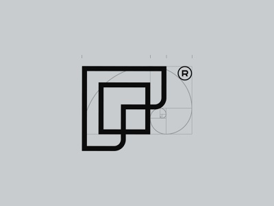 Glossy offices repair fix company construction new brand branding flat logo clean 2019 design block composition proportions geometry logotype golden goldenratio
