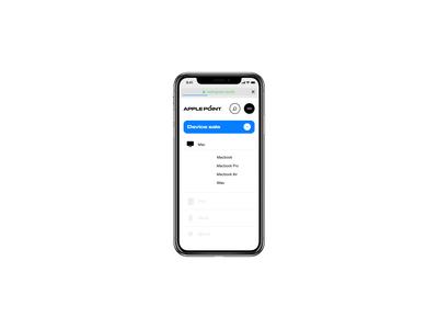 Apple Point® 2019 design store online shop repair fix point daily ui ux ui websie ipad mockup imac iphone apple menu adaptation mobile