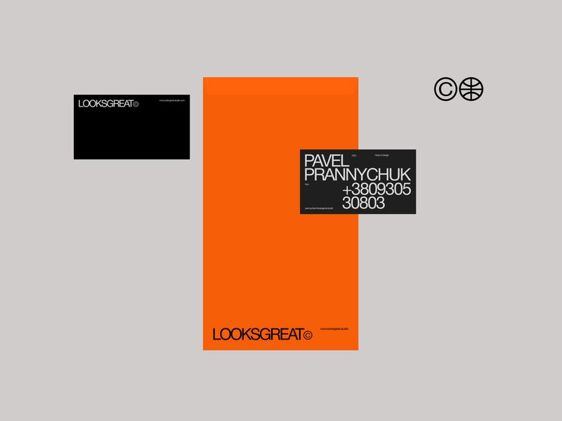 LOOKSGREAT© swiss style helvetica envelope businesscard logo studio clean brand free identity trend promo branding typography graphic style swiss 2020 design