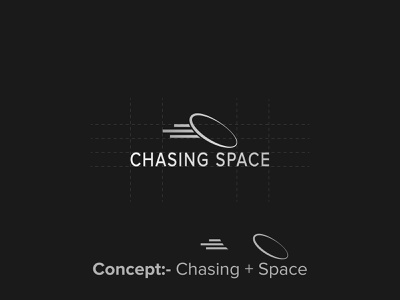 Chasing Space Logo Design logo inspiration graphic design logofolio black and white logo modern logo logotype logo design space logo chasing space logo