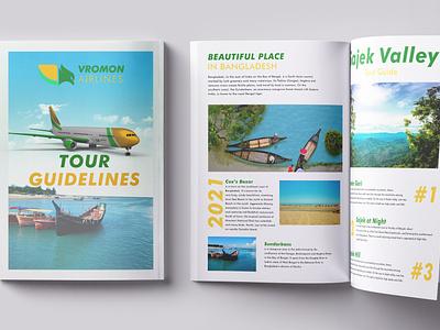 Tour Guidelines Magazine for Vromon Airlines magazine template catalog flyer brochure tour guidelinse travel magazine tour guidelinse magazine