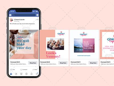 Social Media Design for Content Cupcake facebook post design instagram post design social media post content cupcake social media design