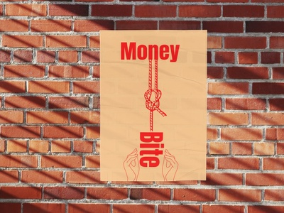 Money Bite Poster Design retro poster vintage poster poster template poster design money bite poster design