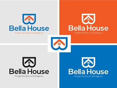 B+House Bella House trending logo shot logo inspiration logotype home logo property logo modern logo logo design real estate real estate logo bella house logo house logo letter b letter b logo b initial letter