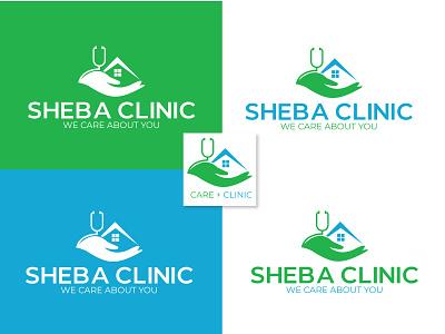 Sheba (Care) Clinic Logo Design wordmark logo online logo new logo modern logo brand logo branding brand identity logo logo inspiration logotype logo design clinic logo care clinic logo sheba clinic logo sheba clinic
