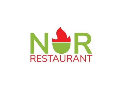 NUR Restaurant Logo logo branding modern logo logofolio logotype logo inspiration logo design restaurant logo nur restaurant logo