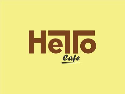 Hello Café Logo Design modern logo design graphic design branding logo inspiration logofolio logotype logo design logo cafe logo hello café