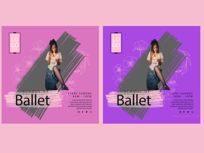 Ballet dancing squared flyer template illustration dancing center flyer business flyer ballet dancing flyer templates flyer design dancing flyer template