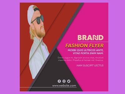 Fashion square flyer template branding illustration business sales graphic design template model fashion flyer fashion sale flyer fashion design flyer