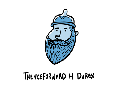 Thenceforwards H Durex character design hand drawn illustrator illustration