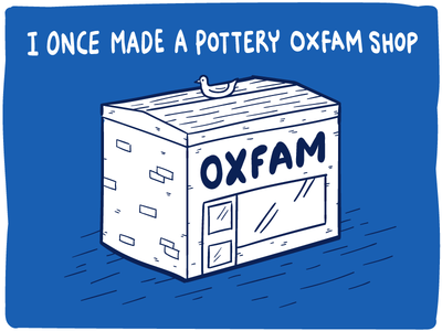 Oxfam Jar about me graphic design hand drawn illustrator illustration