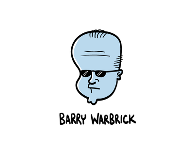 Barry Warbrick character design graphic design hand drawn illustrator illustration