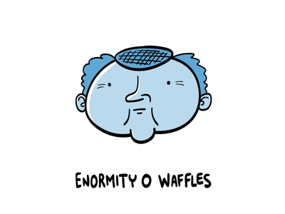 Enormity O Waffles character design graphic design hand drawn illustrator illustration
