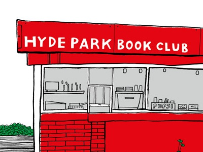Hyde Park Book Club print hand drawn illustrator illustration graphic design