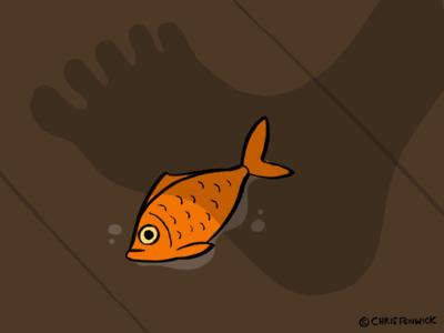 Dickman Goldfish poetry goldfish hand drawn illustrator illustration