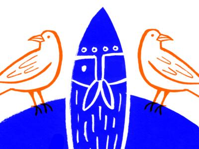 Odins Eyes And Ears mythology hand drawn illustrator illustration
