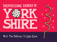 Shepherding Crooks of Yorkshire - No.1 The Embsay Triple Ewe