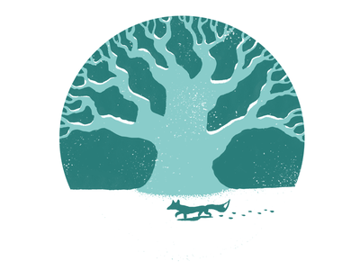 The Shire Oak oak tree shire oak hand drawn illustrator illustration